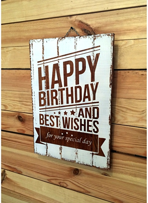 Oldwooddesign Happy Birthday Tablo Renkli
